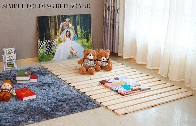 Деревянный Татами кровать пластины минималистский современные плиты кровать, Мебель Спальни, Японский стиль этаж кровать, кровать Твердая древесина складной 60*200