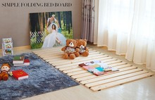 Wooden Tatami bed plate minimalist modern plate bed,Bedroom Furniture,Japanese style floor bed,Solid wood bed folding 60*200