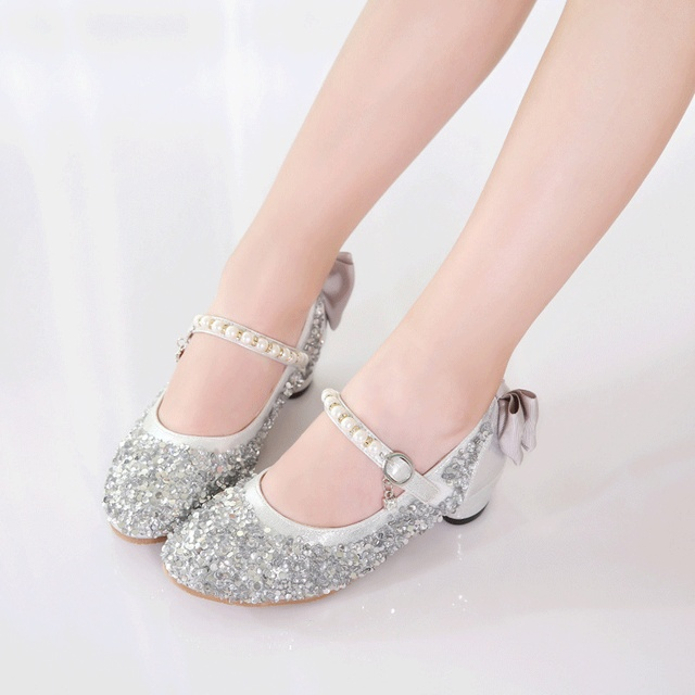 Girls Shoes Princess Glitter Leather Sneaker Little Girls Flats Wedding  Children Shoes Girls 2019 Spring Kids Dance Party Shoes