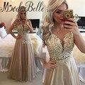 Bridesmaid Dresses Long Scoop Vestido De Festa Appliques Beadings Floor Length Wedding Party Dresses Bridemaids Dresses 2016