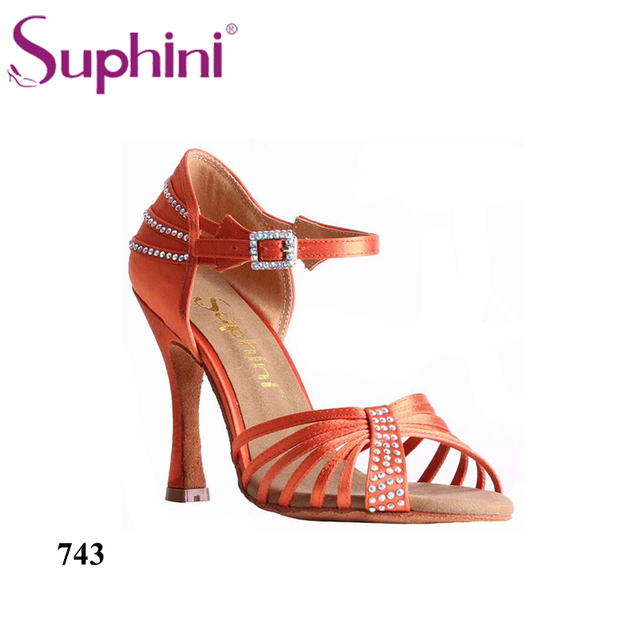 Bravo Zapatos Latino Servicio Mujer De Baile Naranja Precios Buenos aZ5arw
