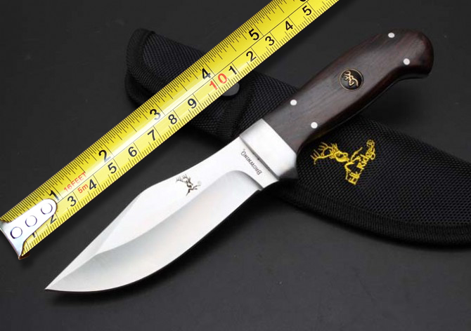 BROWNING A37 Tactical Fixed Knives,440 Blade Ebony Handle Camping Knife,Hunting Survival Knife. pro a37