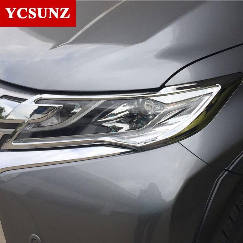 2016-2017 For Mitsubishi Montero Pajero Accessories Headlights Cover Trim For Mitsubishi Montero Pajero Sport Parts Ycsunz цена 2017