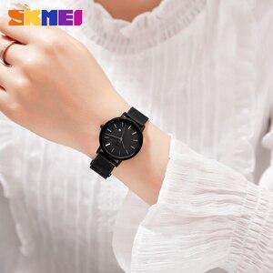 Image 4 - SKMEI 패션 여성 시계 캐주얼 석영 손목 시계 간단한 스타일 3bar 방수 스테인레스 스틸 시계 밴드 reloj mujer 1530