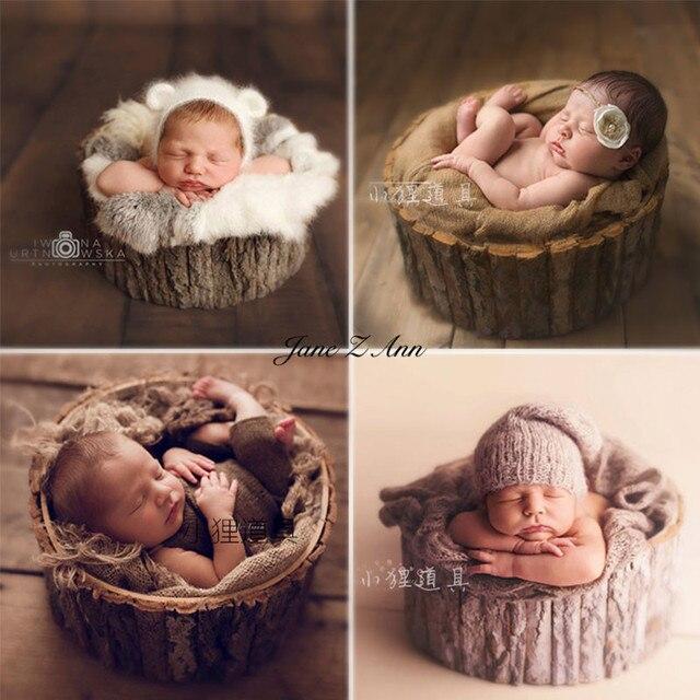 Jane z ann newborn photography props 2 sizes polar wooden tub baby infant creative basket studio