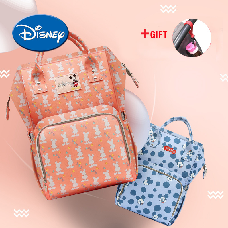 Disney Water-proof USB Heating Diaper Bag Toddler Mommy Diaper Backpack Cartoon Micky Travel Bag Large Capacity ...