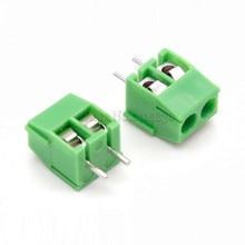10 шт. KF350-2P 3,5 мм Шаг 2Pin 2 пути прямой контактный PCB винтовой клеммный блок разъем