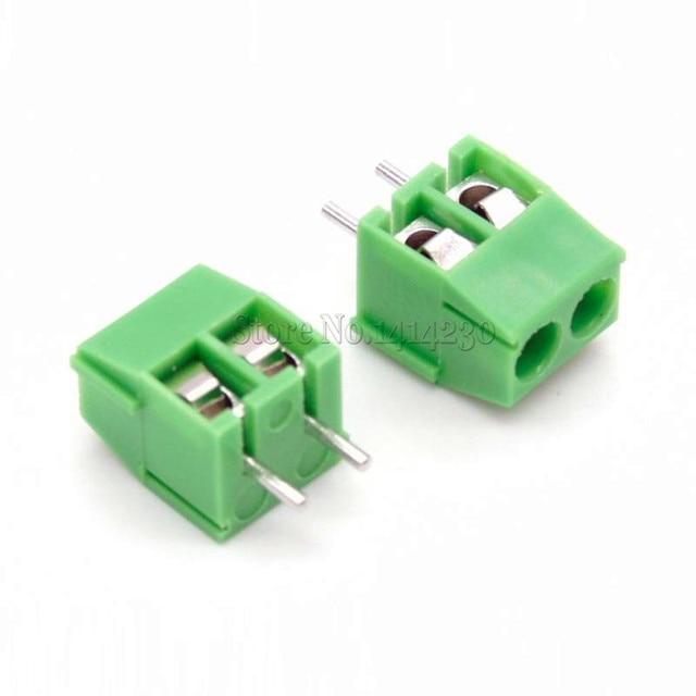 10 piezas KF350-2P 3,5mm Pitch 2Pin 2 manera perno PCB tornillo Terminal conector