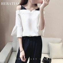 Korean Style Fashion Women Set Summer White Chiffon Ladies Off Shoulder Two Piece Suit Bat Sleeve Blouse + Black Wide Leg Pants