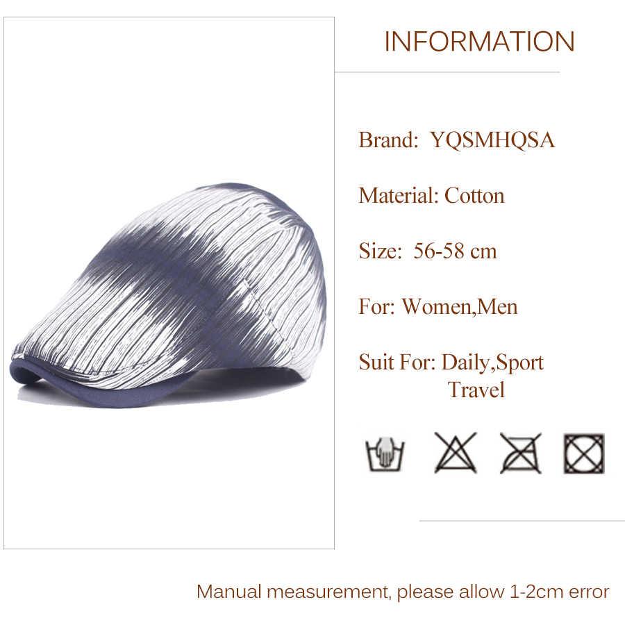 Новая мода полосатый мужской Берет Шляпа плоская Горячая берет для художника Дамская французская шляпа женские s barot шапки Зимние береты шапки для женщин WH649