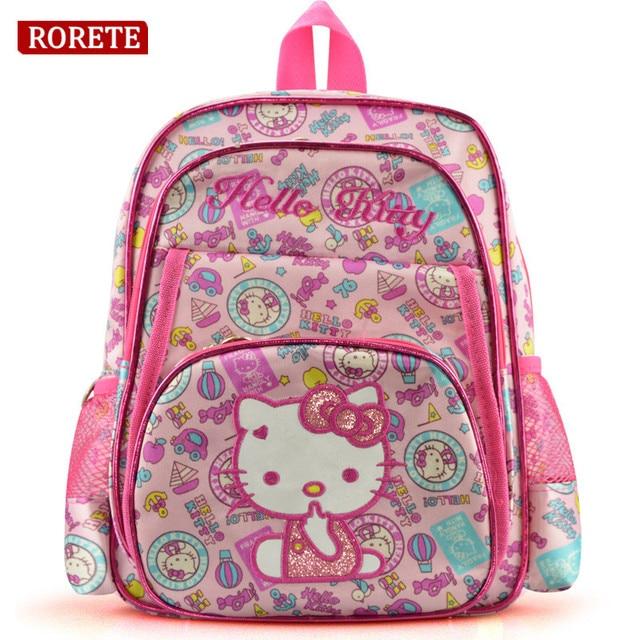 d4aa2d3ba Girl's Hello Kitty School Backpacks for Girls Kids Satchel Children School  Bags For Kindergarten bag Mochila Escolar Rucksacks