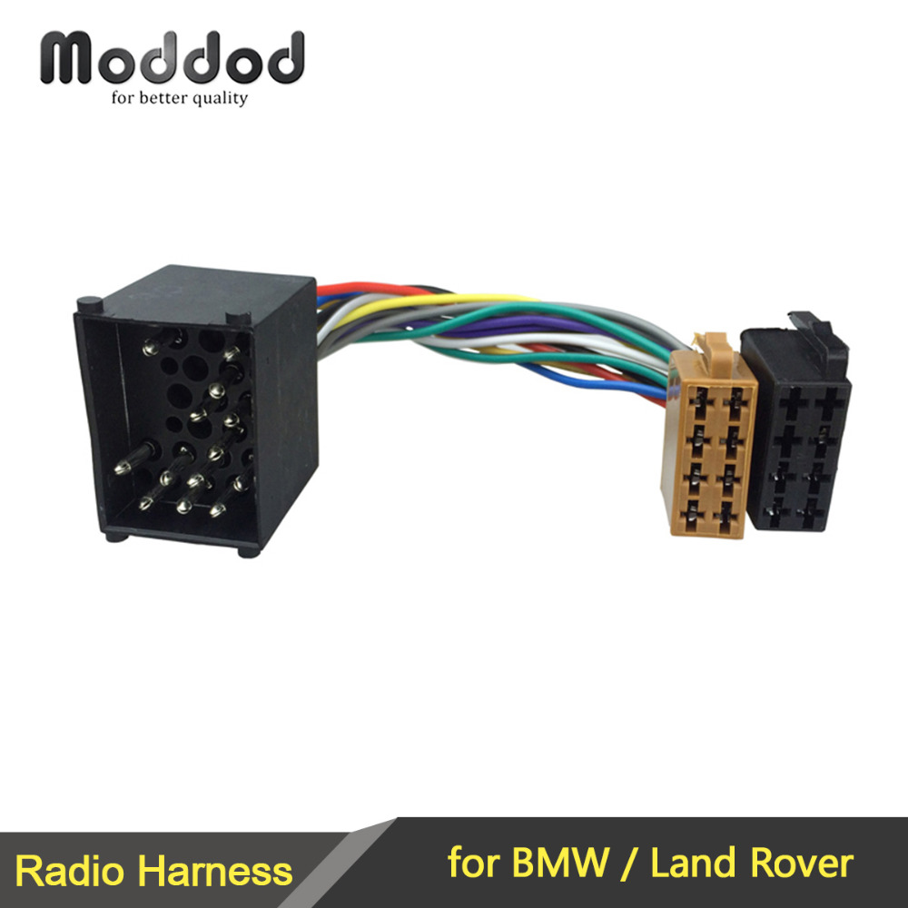 ISO Wiring Harness Adapter untuk BMW 3 5 7 8 Seri E46 E39 Land Rover Discovery Mini Kabel Plug Adapter Konektor