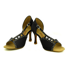 YOVE Dance Shoes Women's Latin/ Salsa Dance Shoes 3.5″ Flare High Heel More color w167-3