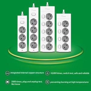 Image 3 - Bull Eu Plug Power Strip 3M G3050 10A 250V Electrical Socket EU Plug Extension Socket Outlet Surge Protector EU Power Strip