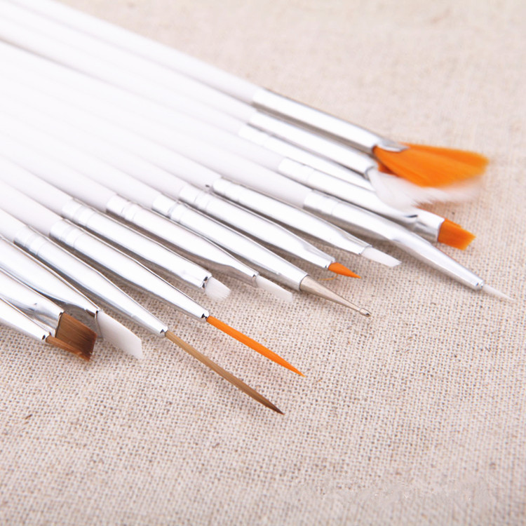 15st Akvarellborste Aquarellefärg Trähandtag Dragkrok Line Pen Nail - Konst, hantverk och sömnad - Foto 5