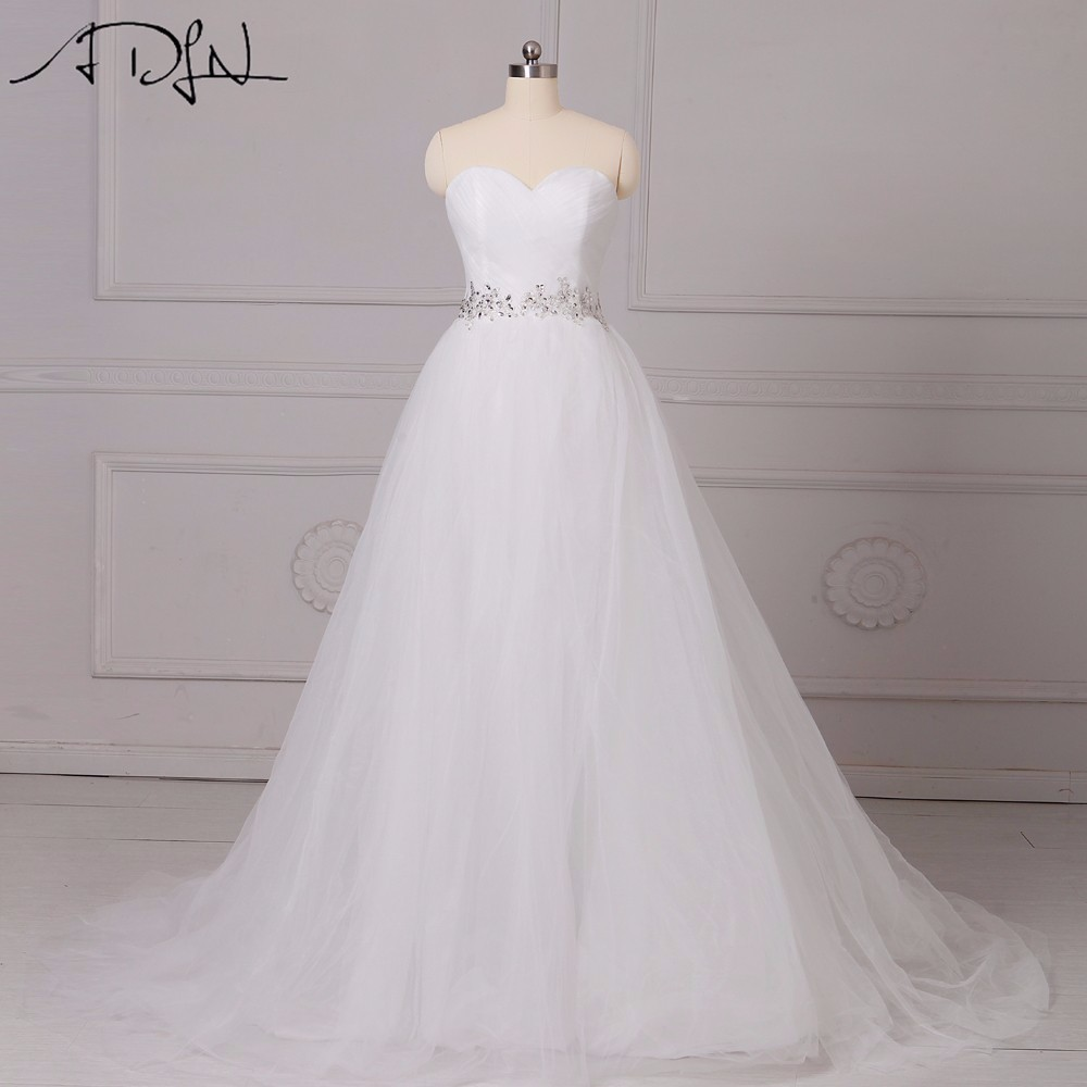 Adln 2017 hot sale a line corset princess wedding dresses for Beaded low back wedding dress