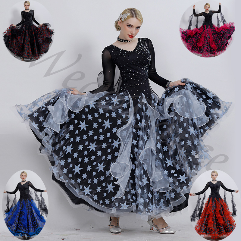 Danse de salon personnalisée moderne standard robes de bal waltz femme livraison gratuite