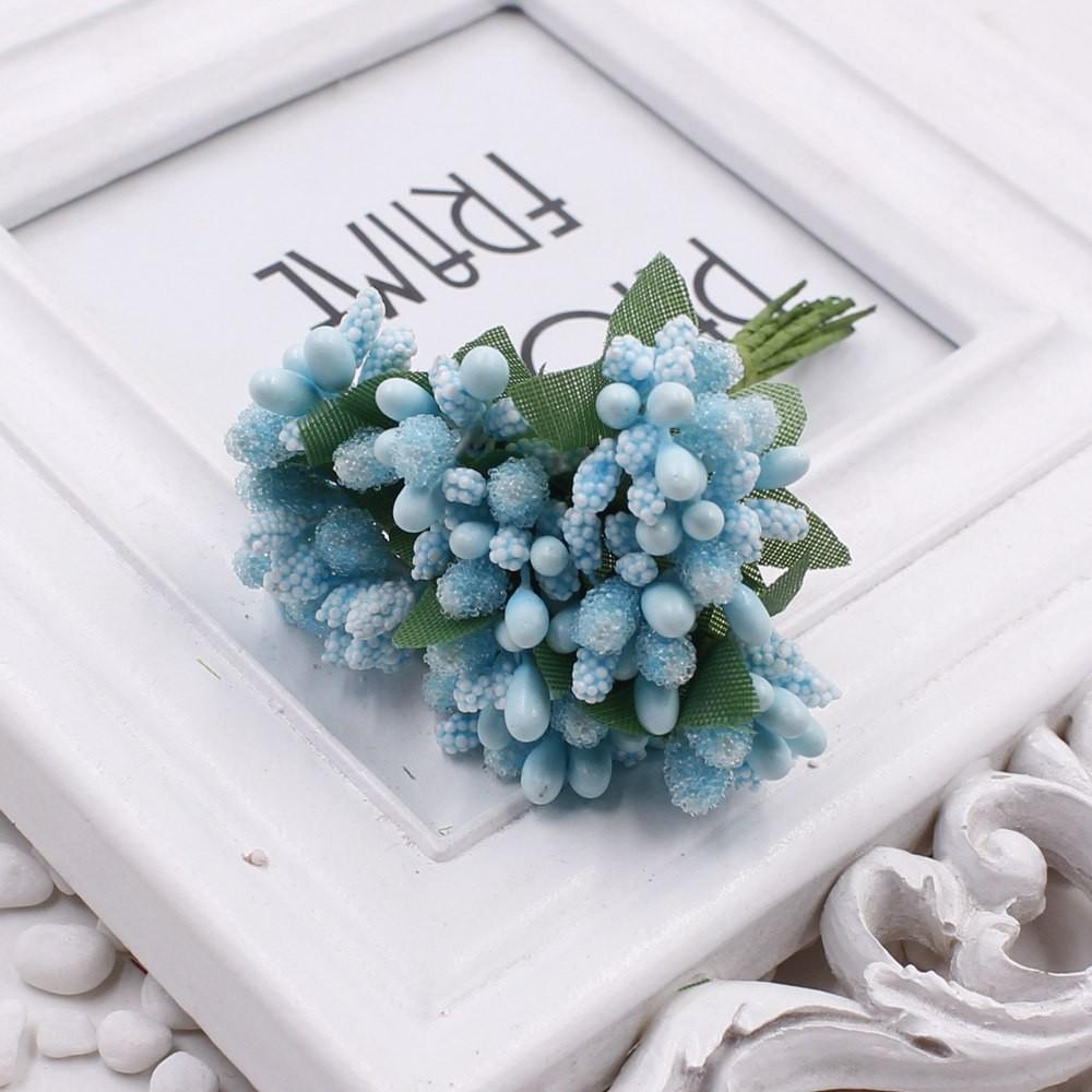 16 12pcs Berry Artificial Stamen Handmade Flower For Wedding Home Decoration Pistil DIY Scrapbooking Garland Craft Fake Flower 14