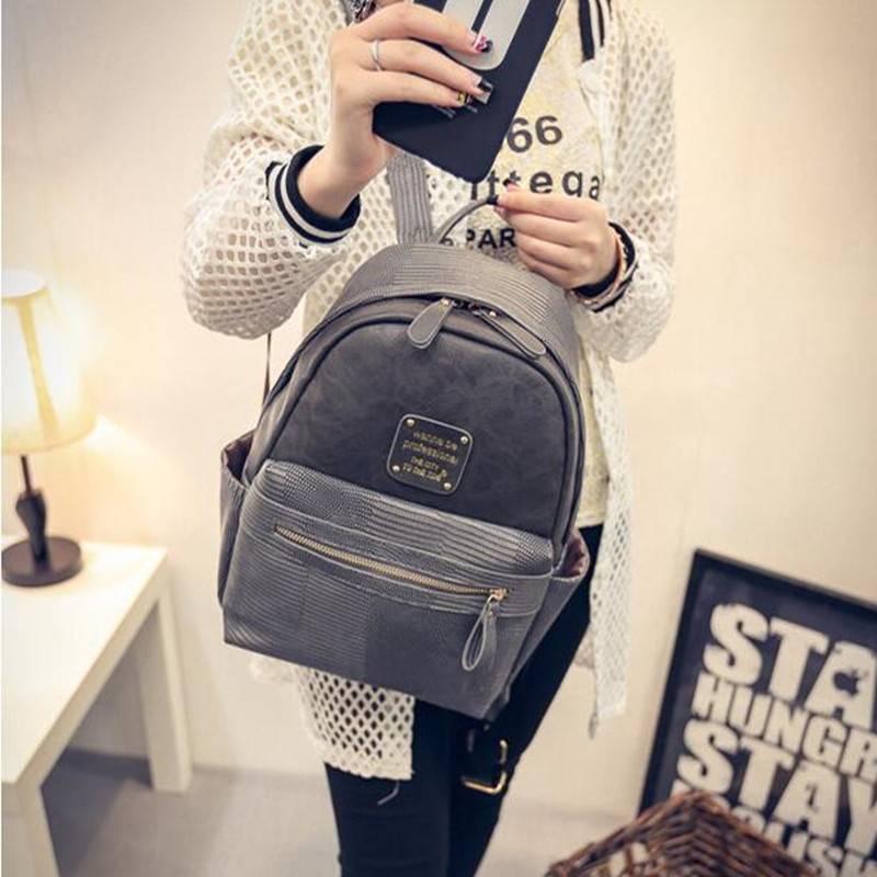 Fashion small Leather Backpack Women Backpacks mini School Bag for ...