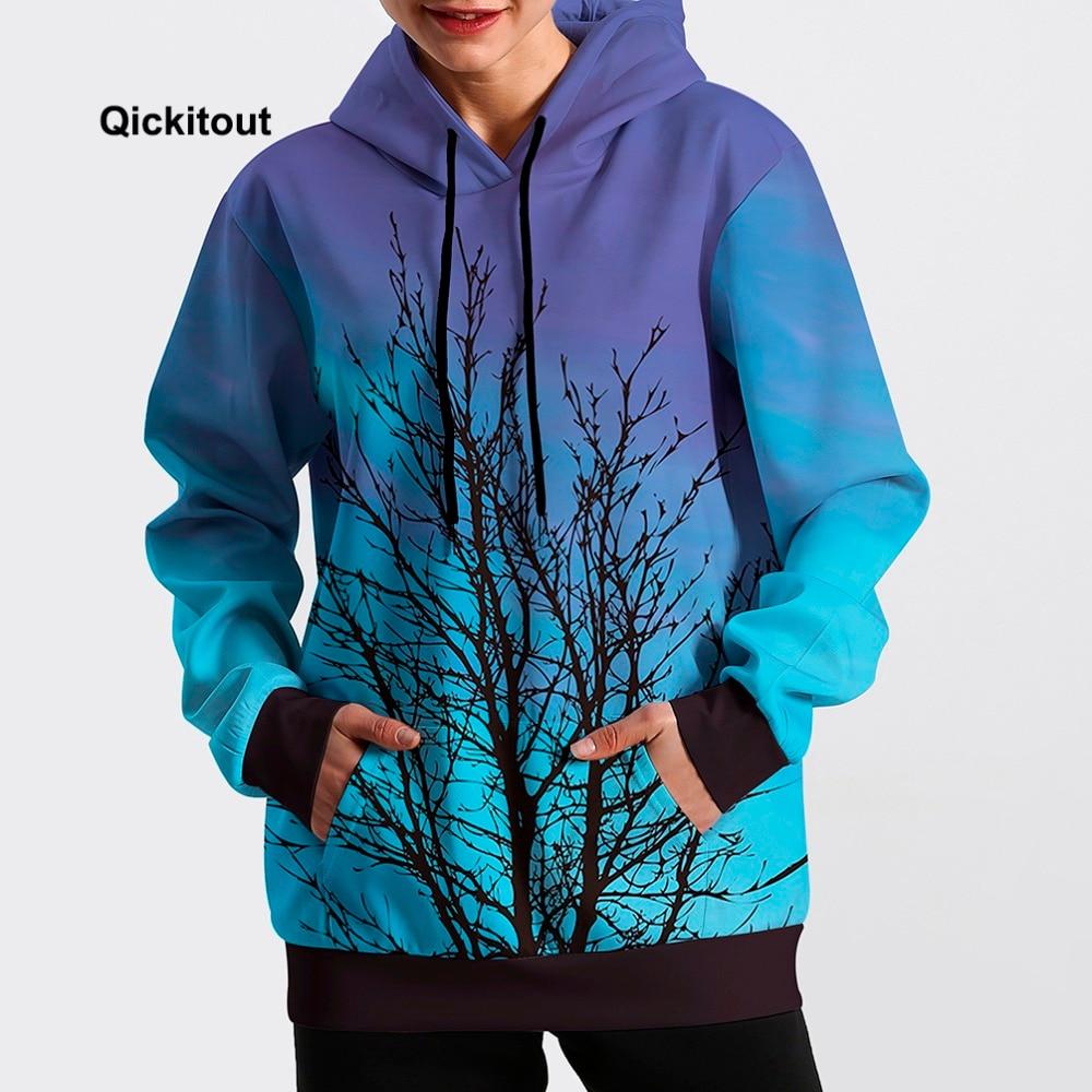 2018 Men/Women Branches Sweatshirt Hip-Hop Oversize Hoodie Spring Long-Sleeve Dance Street Casual Pocket Sweatshirt Plus Size