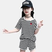 401363e42 Conjunto de ropa para niños traje de verano para las chicas 6 8 12 años  deportes