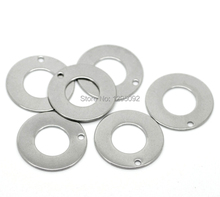 20Pcs Silver Tone Stainless Steel Round Circle Blank Stamping Tags Pendants Charms Jewelry Component Findings 20mm