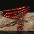 108 &216 pcs African Sandalwood Prayer Beads Tibetan Buddhist Mala Buddha Bracelet Rosary Wooden Bangle Jewelry