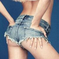Pole Dancing Sexy Women S Summer Crystal Shorts Jeans Denim Micro Mini Jean Ultra Low Rise