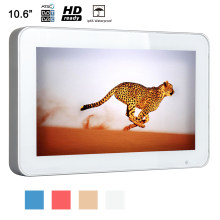 "Souria 10.6 ""Sliver FRAME Mini Dapur Kamar Mandi TV LED Tahan Air Monitor Tahan Air TV(China)"