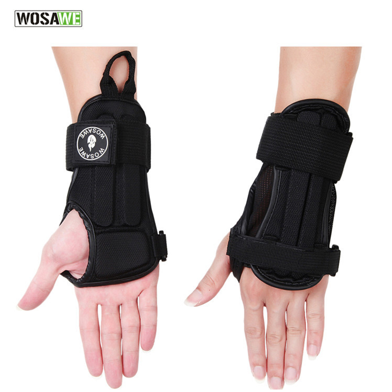 1 Pair Adjustable Wrist Support Brace Support Pads EVA Skiing Hand Protection Palm Hand Protectective Roller Snowboarding Guard