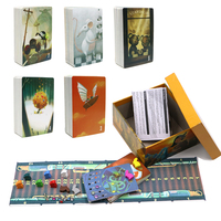 2019 cards game story dixit English board game deck 3 4 5 6 7, gather 420 cards wood bunny gift box