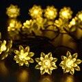 Lámpara solar LED Cadena de luz al aire libre brillante estupenda del hogar linterna impermeable paisaje jardín iluminación luces de Navidad de navid