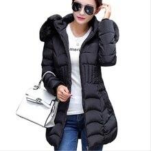 Женщины одеваются плюс размер 2016 большой ярдов пуховик теплый пальто новый список с длинными рукавами молния куртки пальто толстые зимнее пальто женщины