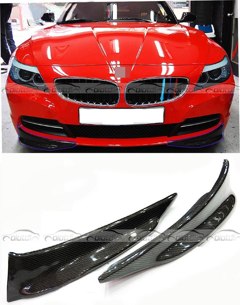 New 2Pcs Front Bumper Lip Splitter For BMW E89 Z4 Carbon Fiber Racing Styling