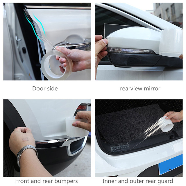 Car Trunk Protector Stickers Anti Scratch Nano Auto Door Sill Scuff Plates Protector Film Door Edge Protective Seal Car Styling