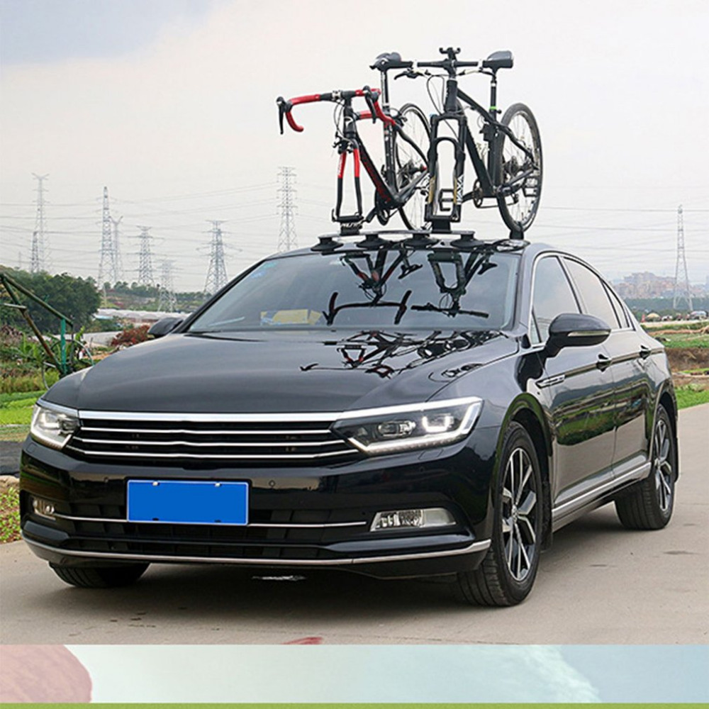 Bicycle Rack Roof-Top Suction Bike Car Rack Carrier Quick Installation Sucker Roof Rack For MTB Mountain Bike Road Bike Parts car bike carrier car roof bike carrier roof bicycle rack for 2 bikes