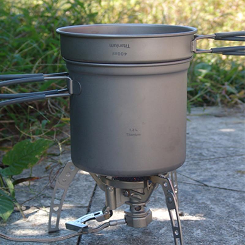 лучшая цена Keith Titanium Pots Set Camping Cookware Caldron & Frying Pan Camping Hunting Traving Picnic Hiking Camp Cook Set 195g Ti6013