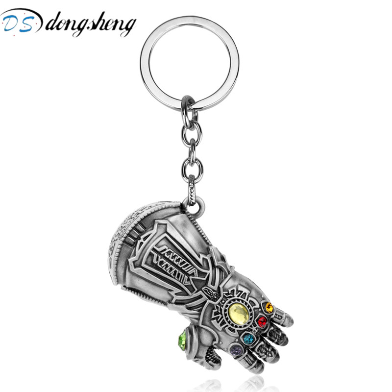 Collectibles Avengers Thanos Infinity Gauntlet Keychain Anime Key Ring Cheap Sales 50%