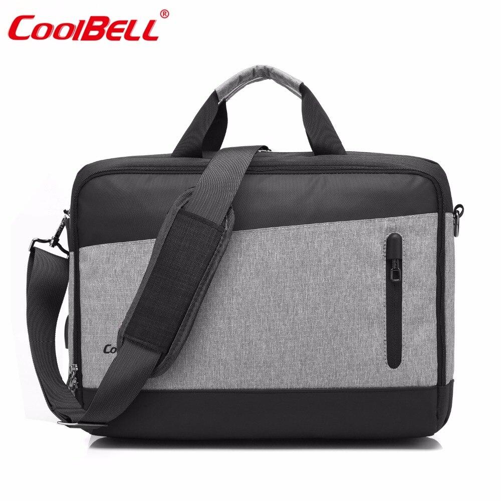 15.6 Inch Men Women Multifunctional Laptop Bag Messenger Bag With USB Charging Port Fashion Shoulder Bag Protective School Bag
