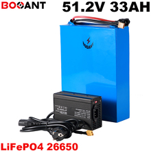 51.2V 33AH Rechargeable LiFePo4 Lithium battery 16S 10P 51.2V Electrical bike battery pack for 1500W 2500W Motor with 5A Charger