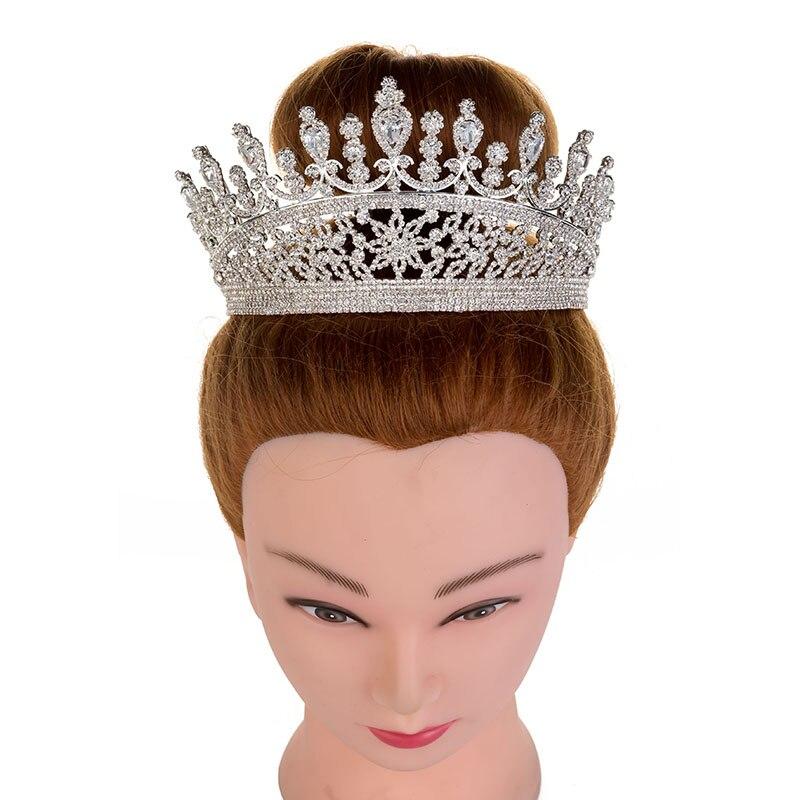 Hadiyana 2018 милые девушки капли Hairband CZ корона принцессы ободок тиара на день рождения короны для женщин аксессуары для волос HG6007 - 5