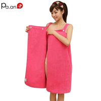 Women Sexy Bath Towel Wearable Beach Towel Soft Beach Wrap Skirt Super Absorbent Bath Gown Many