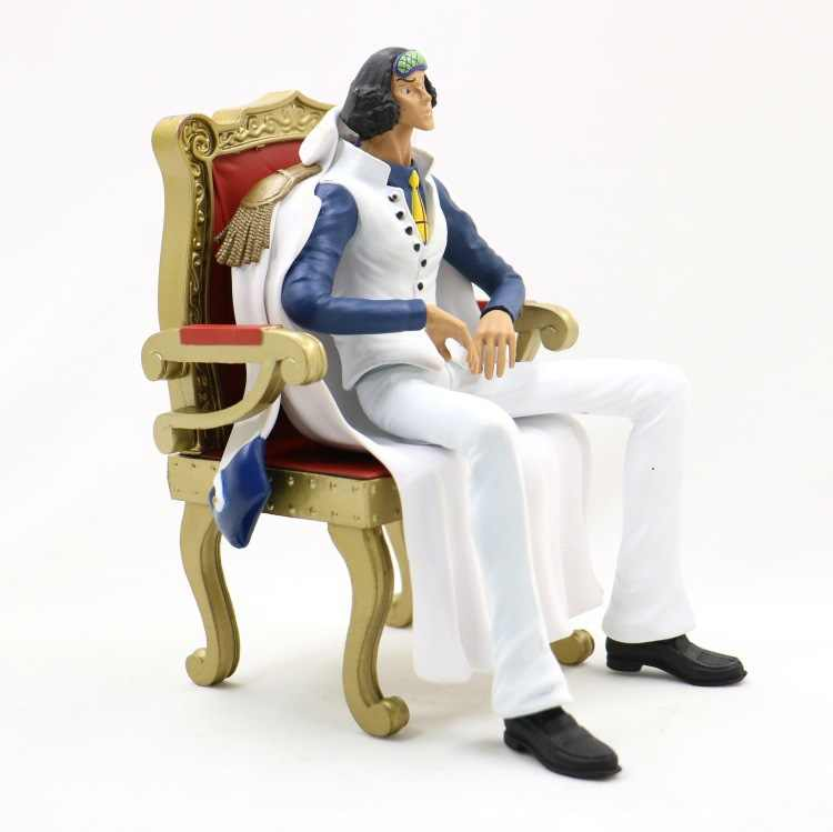 16 centímetros Anime One Piece Marinha Almirante Aokiji/Sakazuki/Kprusoian/One Piece Sakazuki Kuzan Sit Ver Ação figura Modelo Boneca de Brinquedo de Presente