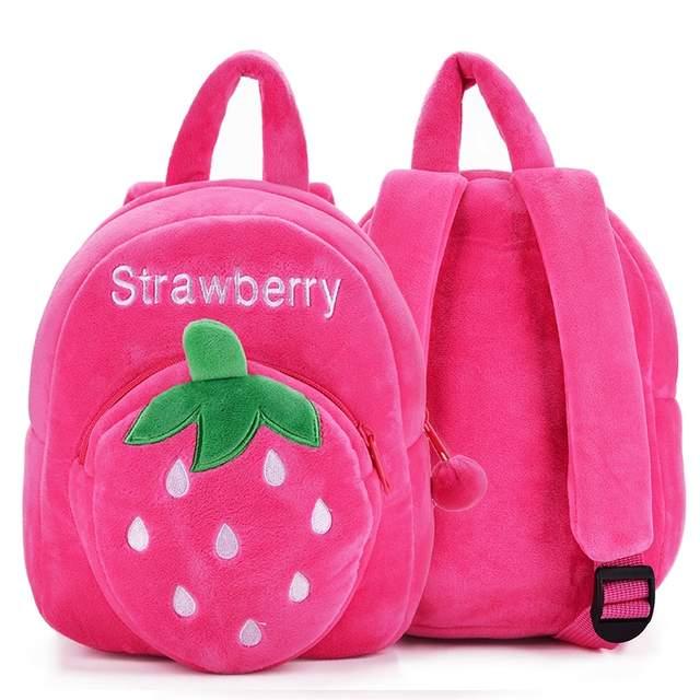 d2e8760590 placeholder Plush Fruit Cartoon Backpack 2017 New Orange Strawberry Toddler  Children Bags Gifts For 1-3