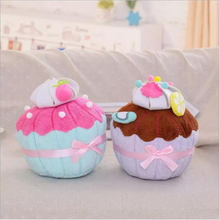 32cm 2016 Selling plush Toys Dolls Super Creative Cupcake Cute Ice Cream Color Cake Filled Pillow