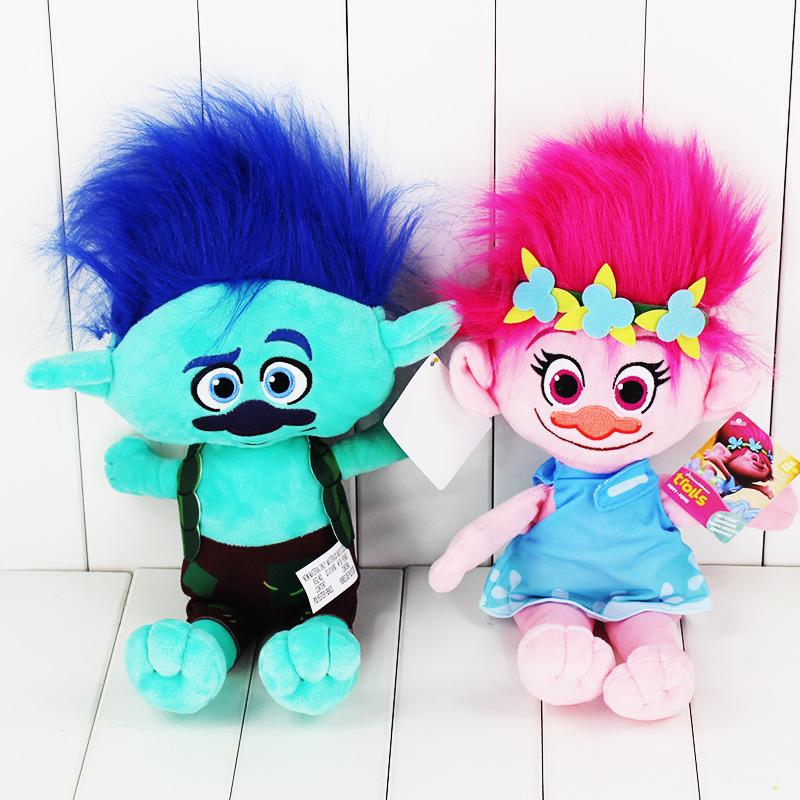 EMS 200pcs/lot 24cm Hot movie Trolls Poppy Branch stuffed plush toy pendant toy free shipping big size 40cm movie trolls poppy plush toy doll poppy dream works soft stuffed toys the good luck trolls gifts for kids children