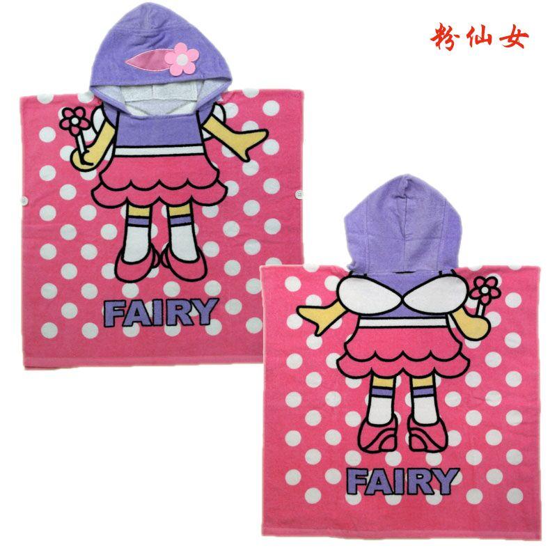 Мультяшные халаты «Алиса» для мальчиков и девочек, «Белоснежка», «динозавр», «панда», «машинка», «робот», милое детское банное полотенце, детский банный халат, пижама - Цвет: rose girl