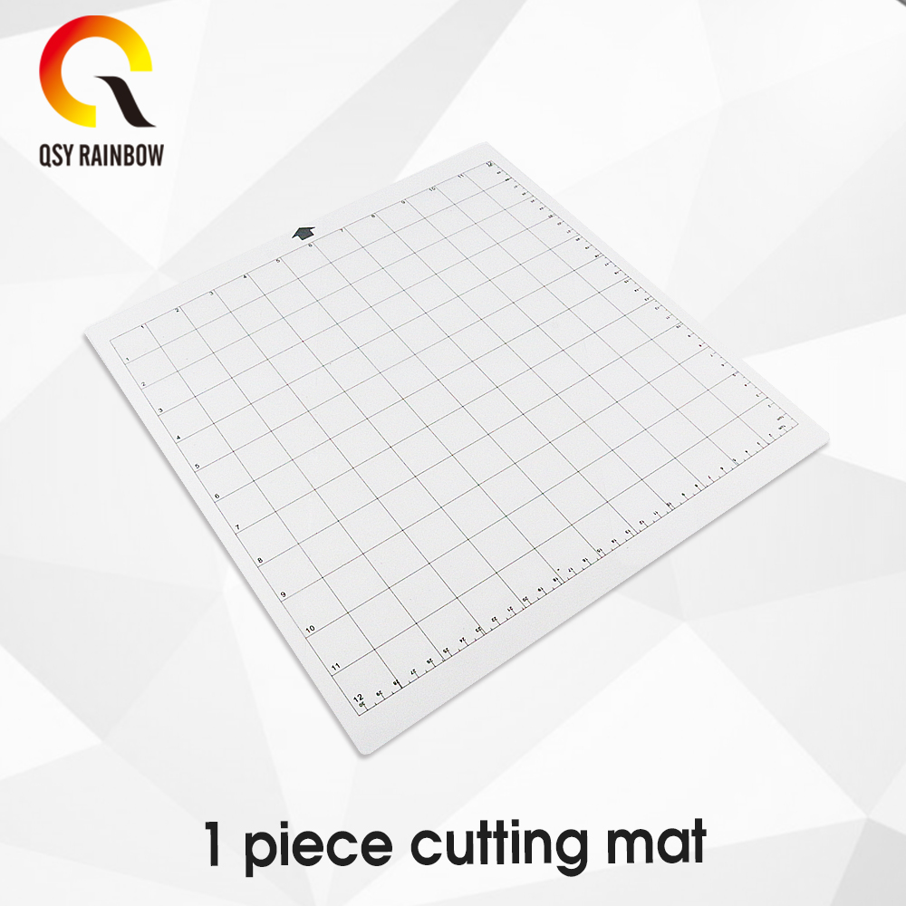 1Pcs/set 12*12in Replacement Cutting Mat Transparent Adhesive Mat With Measuring Grid For Silhouette Cameo Plotter Machine Tools