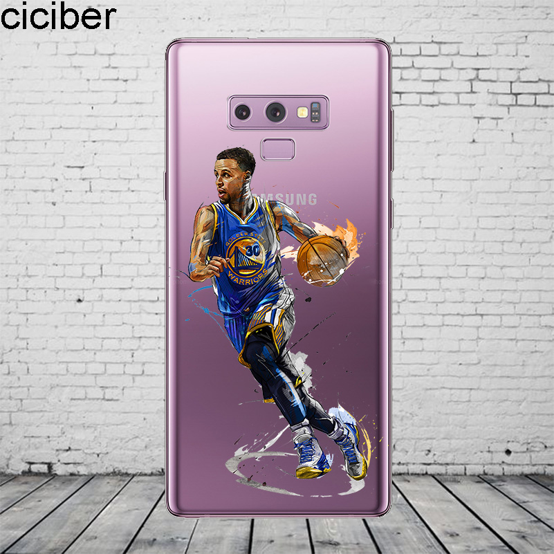 9c8418ac1c4d ciciber Basketball Curry Iverson Kobe Coque For Samsung Galaxy S5 6 7 8 9  Edge Plus Phone Case For Galaxy Note 4 5 8 9 Cover TPU-in Fitted Cases from  ...
