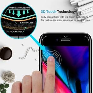 Image 3 - Per iPhone 8 Più di 7 6 6S X XS Max XR 11 Pro 12 Mini 5 S SE 2020 5 Protezione dello schermo Pellicola di Protezione In Vetro Temperato Screenprotector